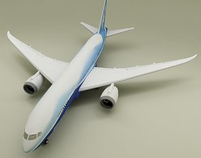 Boeing 787 3D model transportation
