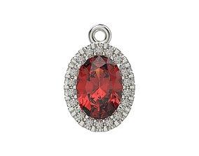 Women pendant with gems 3dm stl CAD