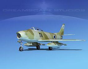 3D North American F-86 Sabre Jet IADF