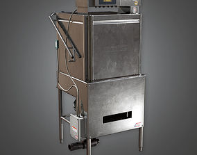 3D model Dish Washer Industrial KTC - PBR Game Ready