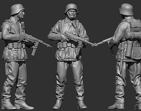 3D printable model sculpture German Soldier WW2