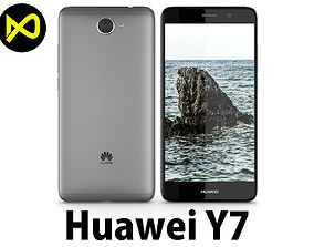 Huawei Y7 Space Gray 3D model