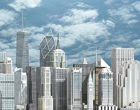 3D New York Skyscrapers