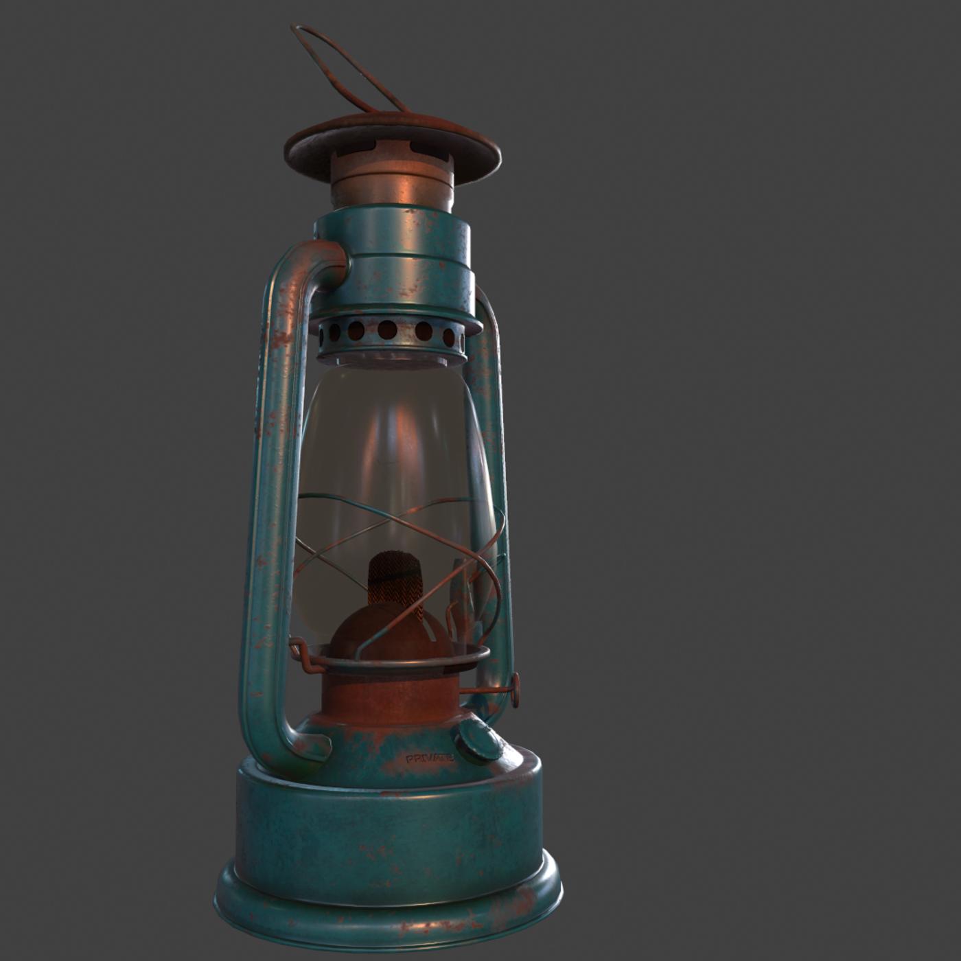 Lantern low poly model;ing