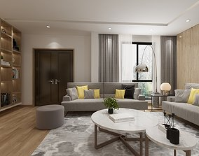 livingroom and diningroom 3D model
