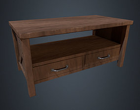 3D asset Wooden Coffee Table - Lounge Furniture - Coffee 2