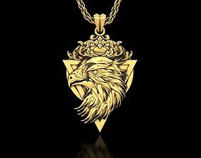 3D printable model The Eagle Head Medallion Pendant