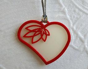 3D print model heart Heart pendant