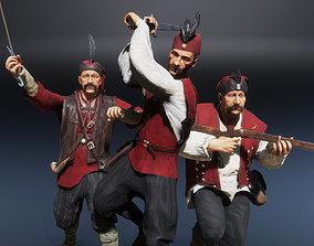 3D asset Medieval European Pirate Warriors