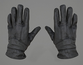 Leather Gloves 3D model