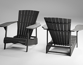 Wood Adirondack Chair 3D