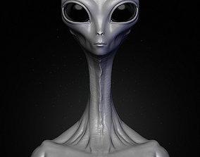 Realistic Alien 6 Sculpt 3D model