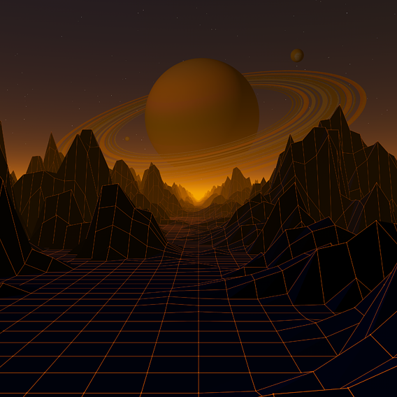 Retro style animation,  Cinema 4d project for background video