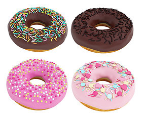 sweets Glazed donut collection 3D model