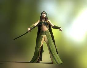 Female Forest Wizard 3D asset