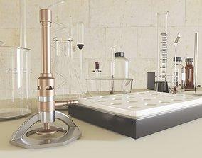 Chemistry equipment 3D asset VR / AR ready