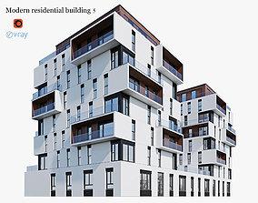 3D model Modern residential building 5