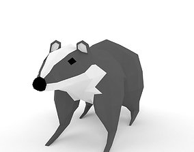 low-polys badger 3D model