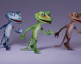 Toon Humanoid Lizard 3D asset