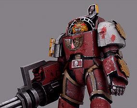 Warhammer Terminator Marine Soldier Low-poly 3D rigged