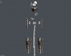 Avengers Endgame Ronin Hawkeye armor 3D printable model 5