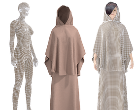 fashion 3D CHARACTER WITH arabian cloth