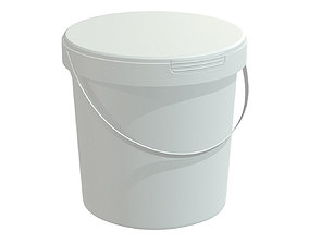 3D model paint bucket