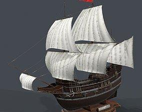 Galeon 3d model PBR