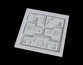 Sci fi decoration panel model 1