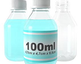 3D model bottle 100ml type12