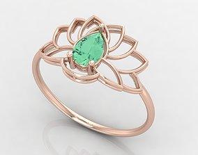 Lotus Ring 3D Print