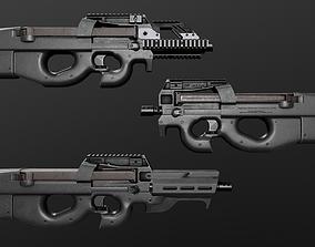 3D asset FN P90 Sub Machine Gun