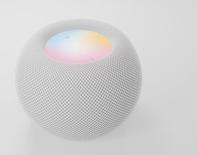 3D Apple HomePod Mini with inside parts