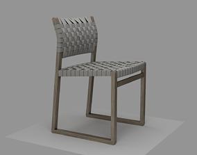 Chair BM 3361 linenwebbing v-02 3D model