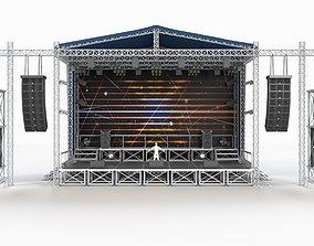 light Concert Scene 3D model