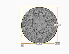 Lion Head Pendant 3d print model 3D 2