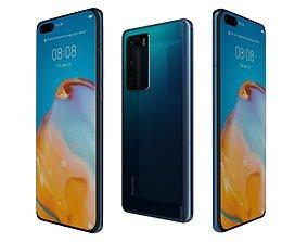 3D model Huawei P40 Pro Deep Sea Blue