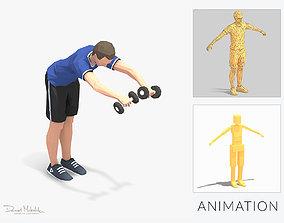 3D model Bend Raise Exercise Man Animation