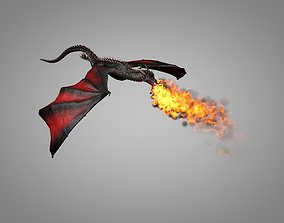 Dragon 3D asset animated low-poly