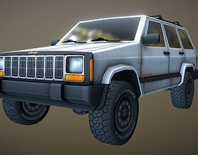 3D model Low poly Jeep Cherokee