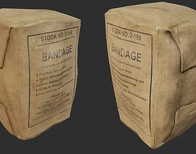 3D asset Field Bandage PBR