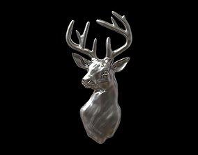 Deer head bas relief 3D print model