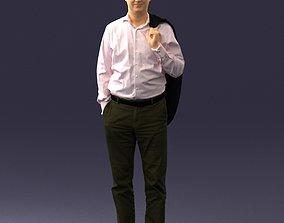 3dprint Man in an office suit 0171 3D Print Ready