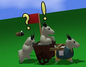 3D asset Goat Toon Pack
