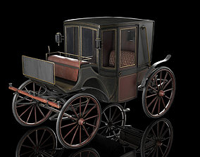 3D asset game-ready Carriage
