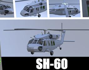 3D model SH-60 seahawk low poly