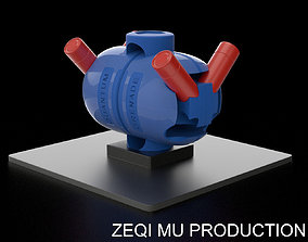 3D print model quantum grenade