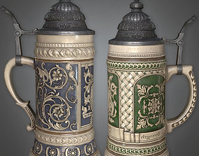 3D model Ceramic Beer Stein - DVB - PBR Game Ready
