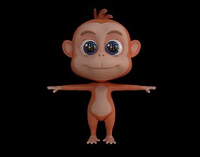 game-ready Asset - Cartoons - Character - Monkey - 3D