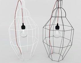 3D model hexagonal wire lamp